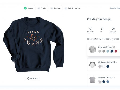 how to design a shirt - design tool