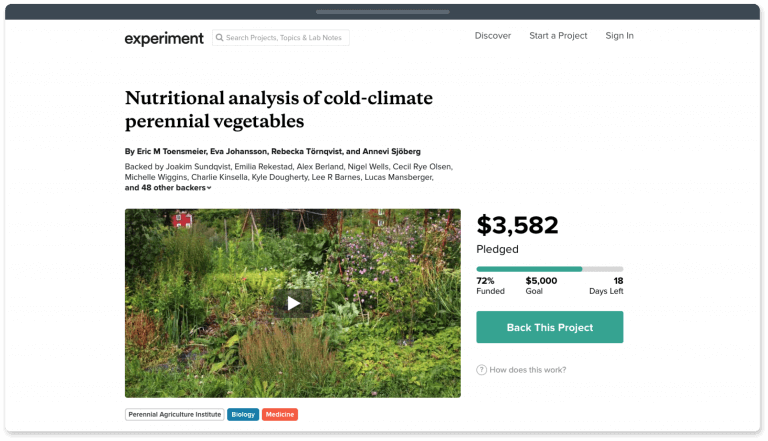 Experiment is the best fundraising platform for scientific research projects.