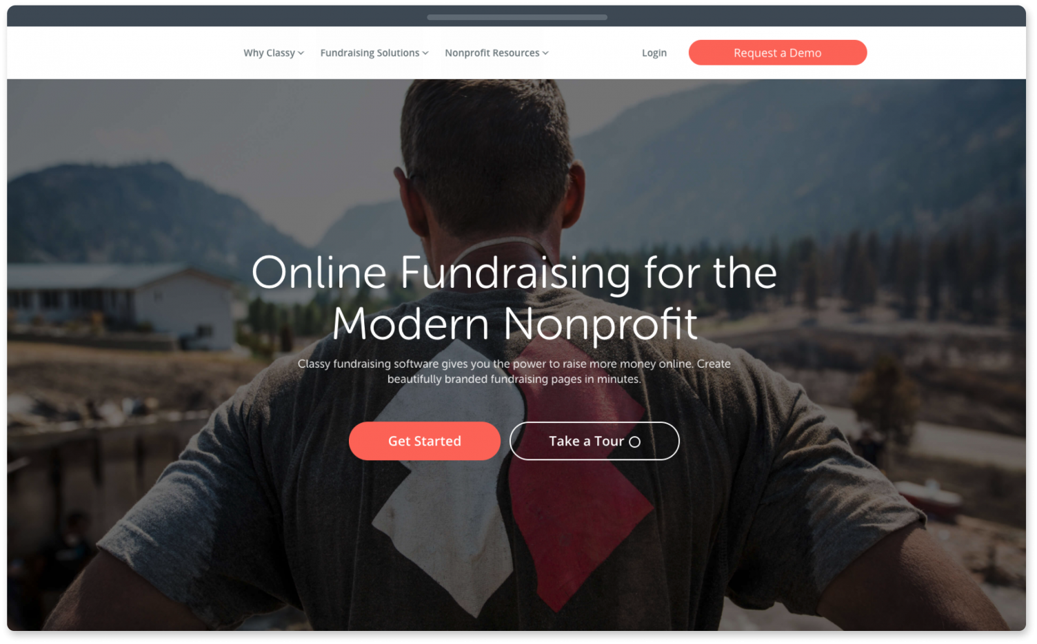 Classy fundraising website for nonprofits.