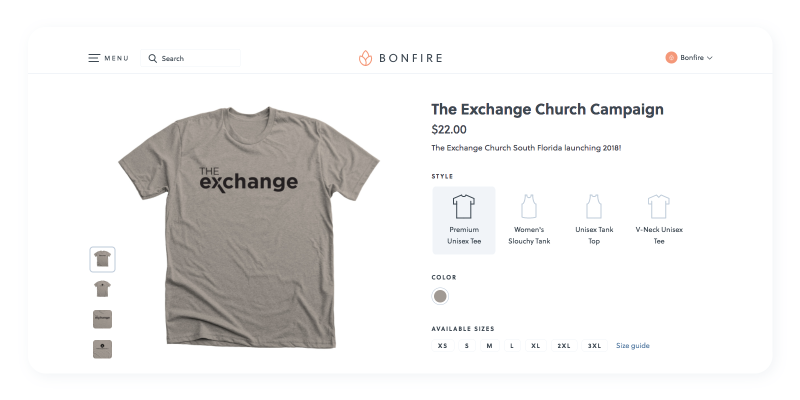 Check out how the Exchange Church used merchandise to raise money for their campaign.