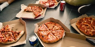 Host a pizza party as a quick and easy fundraising idea for kids.