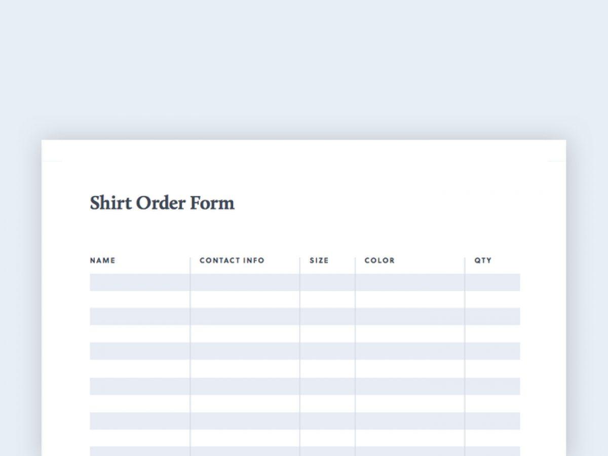 T Shirt Order Template from blog.bonfire.com