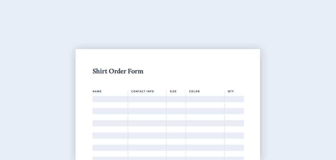 Learn How Your Organization Can Create A Paper T Shirt Order Form.