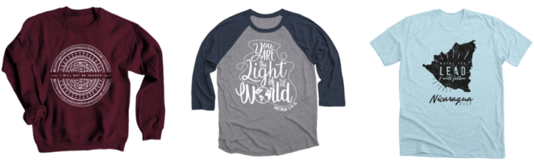 Designing custom t-shirts is a perfect mission trip fundraising idea!
