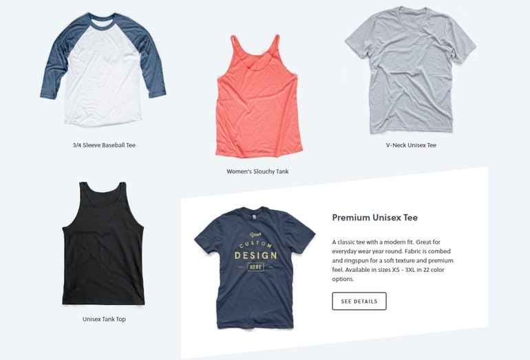 Check out the variety of custom printed shirts and apparel available through Bonfire.