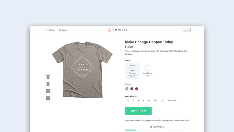 Design your custom apparel as a part of your crowdfunding campaign strategy.