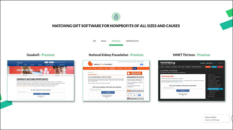Double the Donation is known for being the best gift matching database for nonprofits.