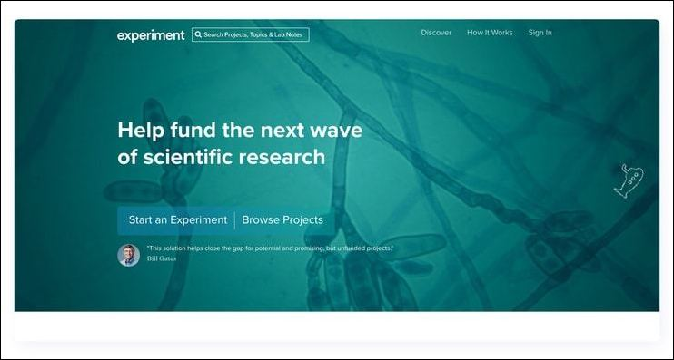 Experiment is a popular fundraising website because it provides effective tools for a niche need.