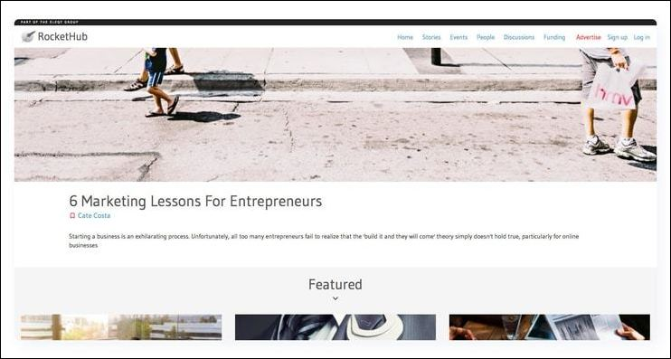 RocketHub is one of the very best fundraising websites for entrepreneurs.