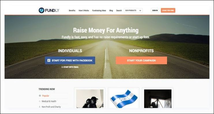 Fundly is one of the best fundraising websites because it's incredibly easy to set up a new crowdfunding campaign..