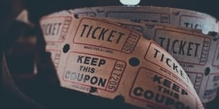 Sell tickets for a 50/50 raffle as an engaging fundraising event idea.