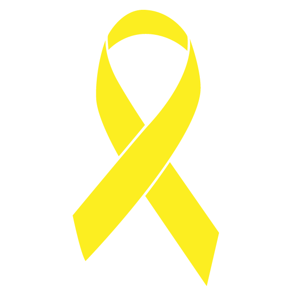 Yellow colored Bone Cancer ribbon