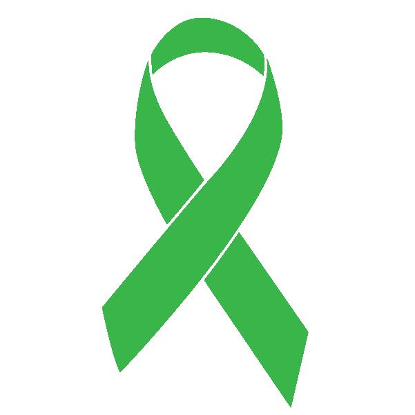 Green colored Bone Marrow Cancer ribbon