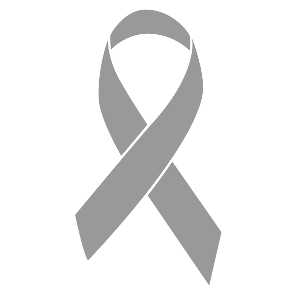 Grey colored Brain Cancer ribbon