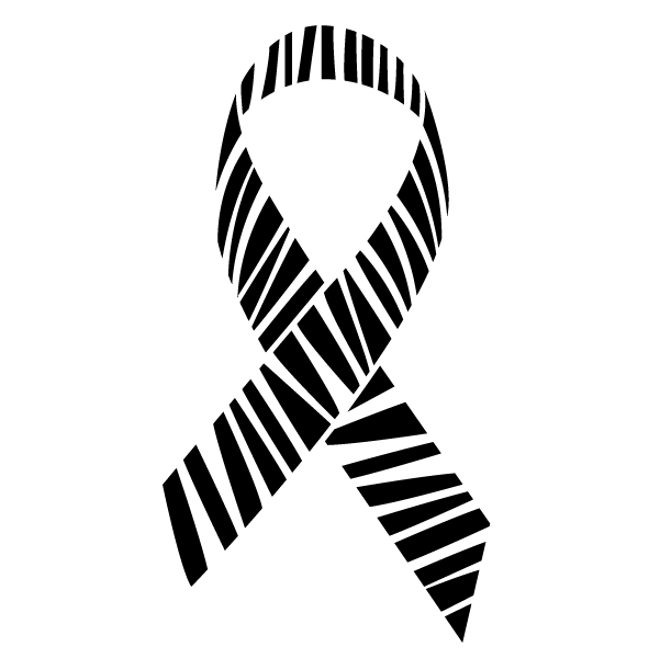 Zebra print Carcinoid Cancer ribbon
