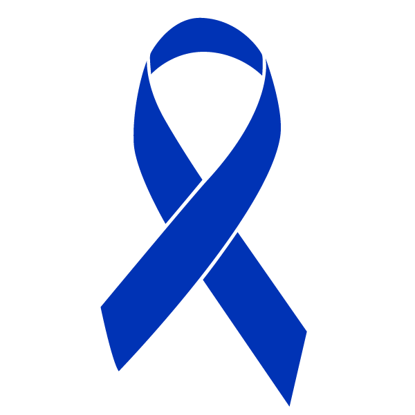 Blue colored Colon Cancer ribbon