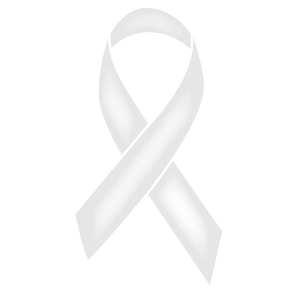 Pearl colored Mesothelioma ribbon