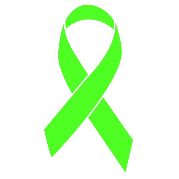 Lime green colored Non-Hodgkin's Lymphoma ribbon