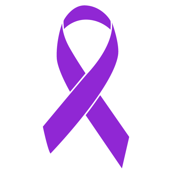 Purple colored Pancreatic Cancer ribbon