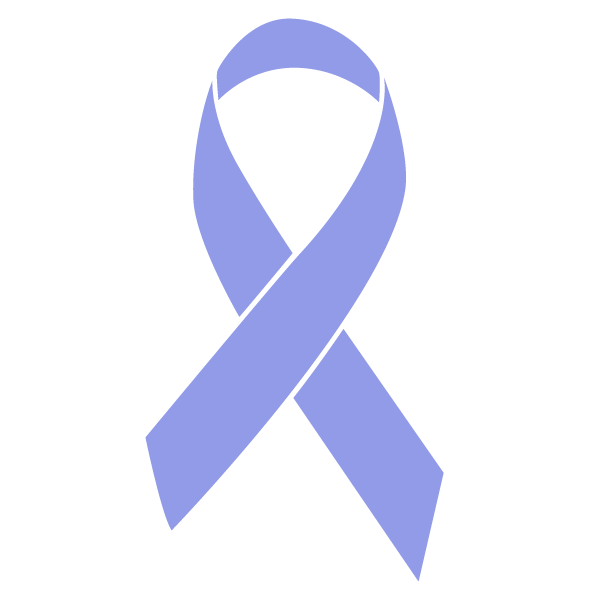 Periwinkle colored Stomach Cancer ribbon