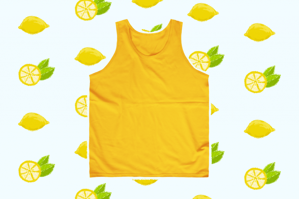 yellow unisex tank top for summer