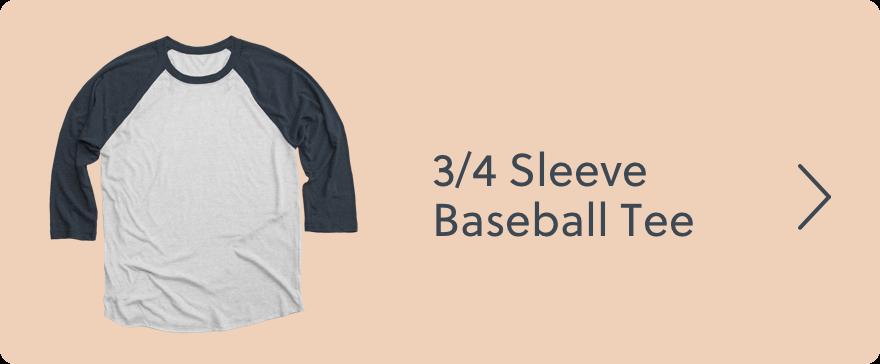 3/4 Sleeve Baseball Tee