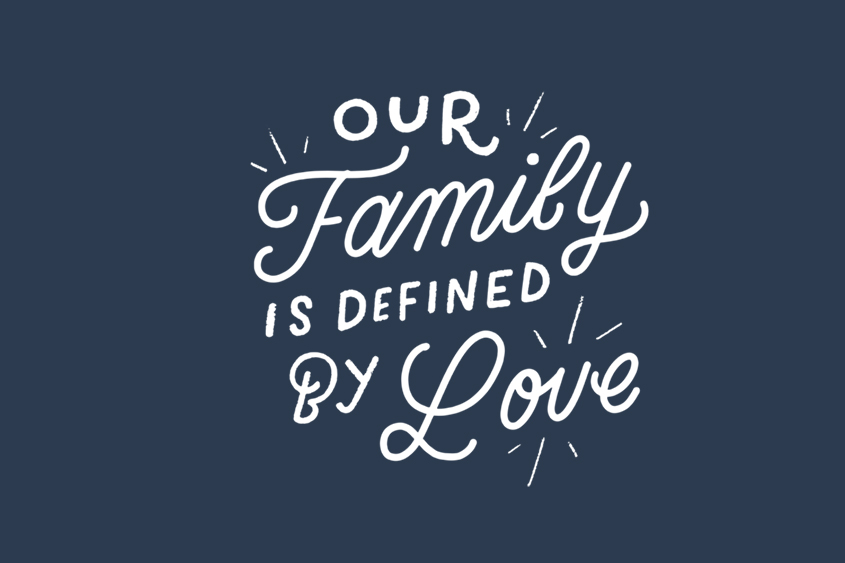 Defined by Love adoption saying