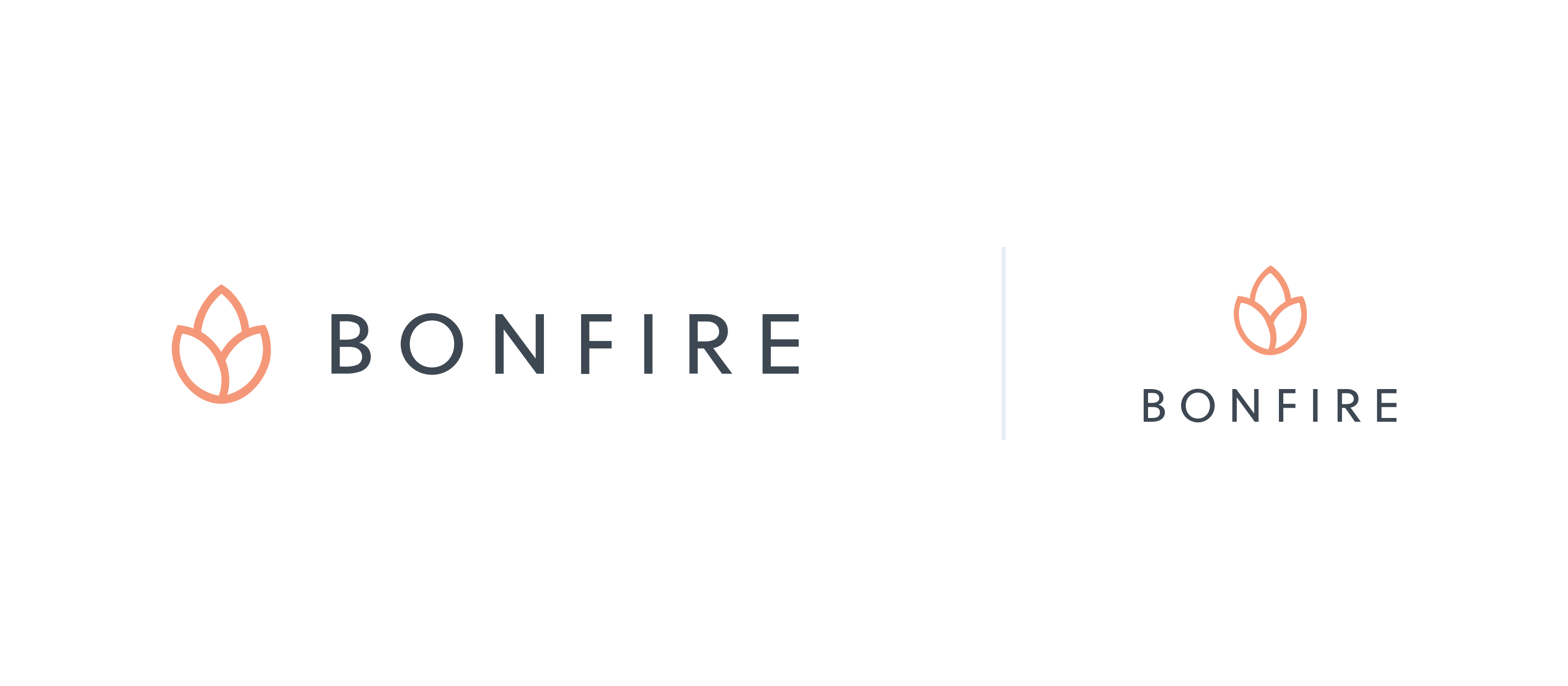 Bonfire primary logo example