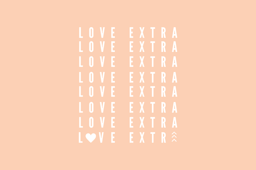 Love Extra adoption saying