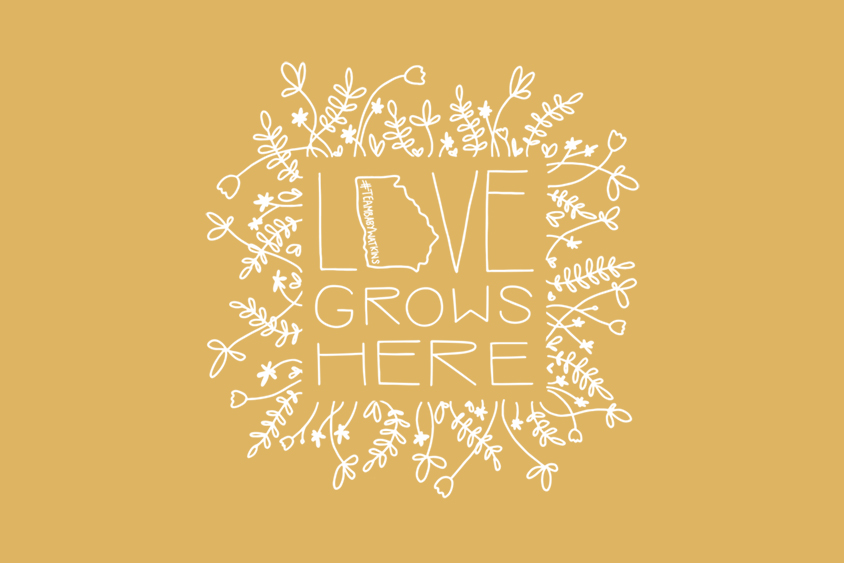 Love Grows Here adoption saying