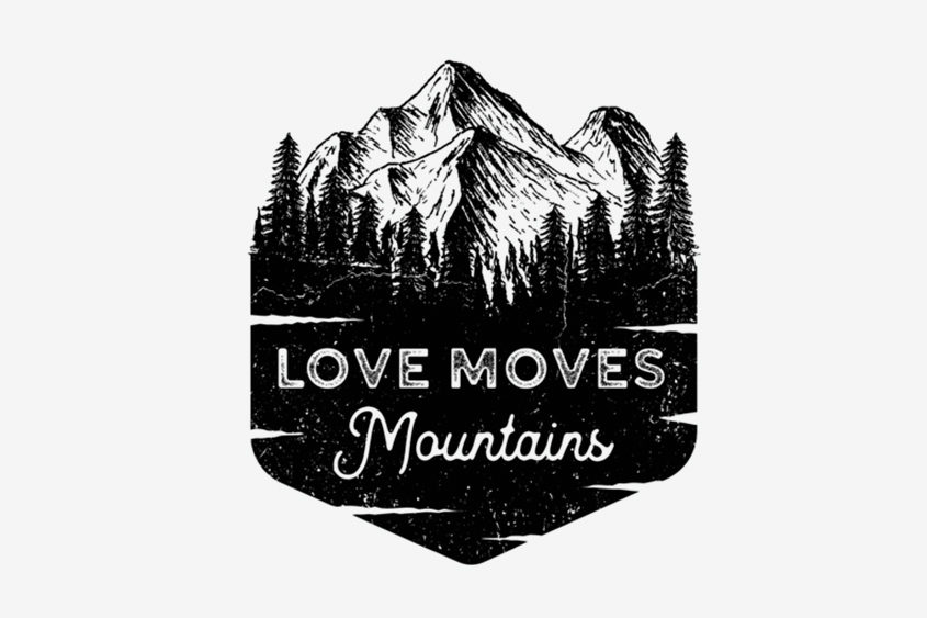 Love Moves Mountains adoption saying