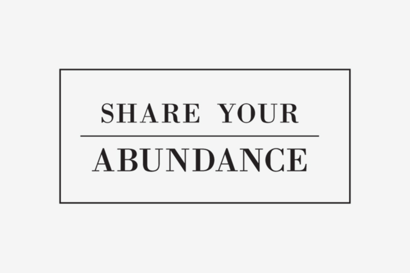Share Your Abundance adoption quote