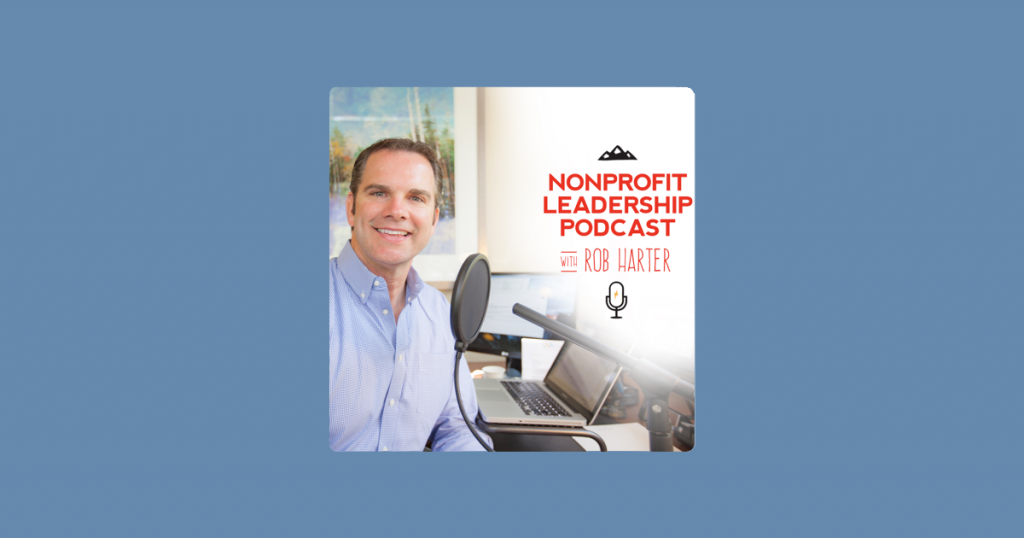 Nonprofit Leadership Podcast: Making Your World Better artwork and logo