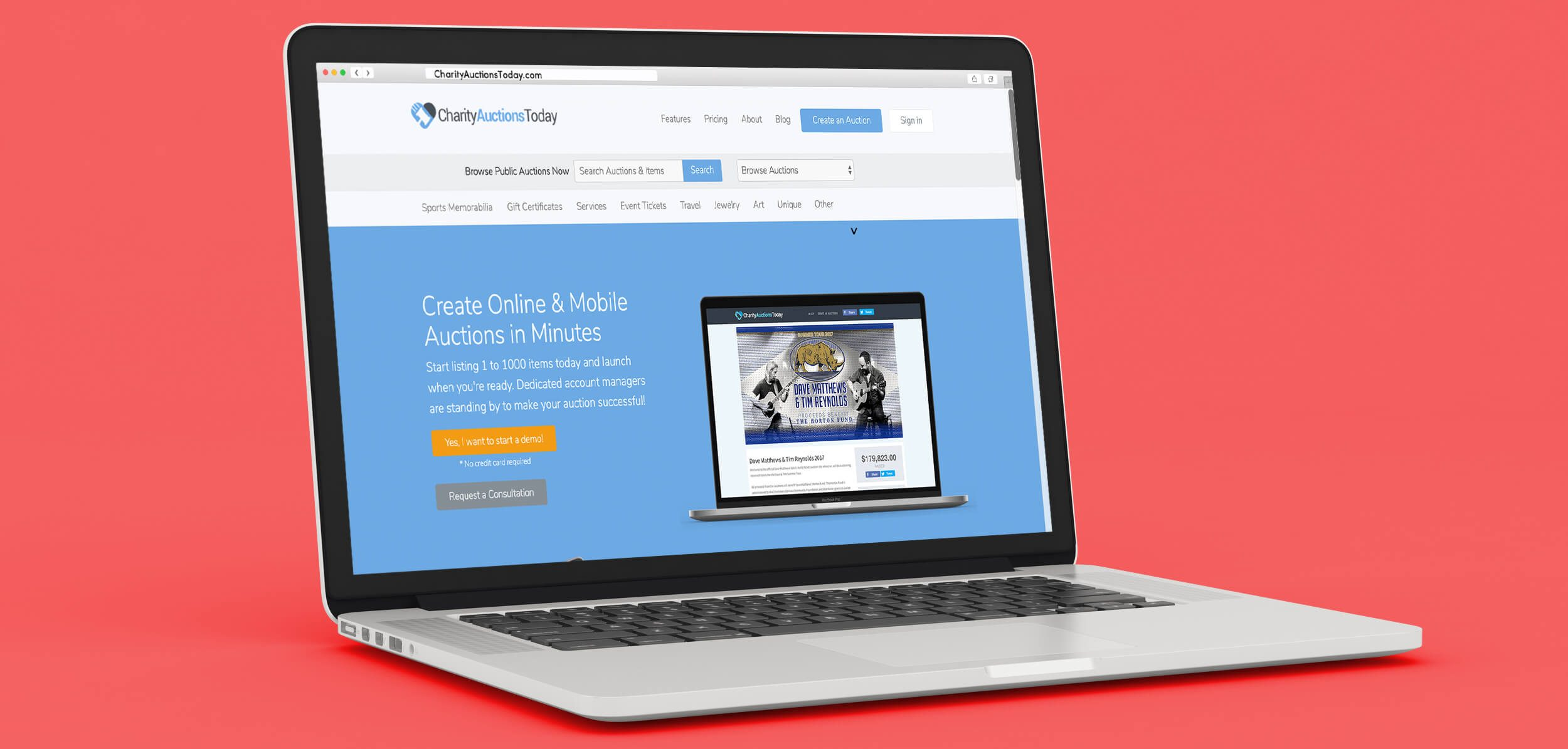 CharityAuctionsToday is one of the many software options available to nonprofits for creating an online auction.