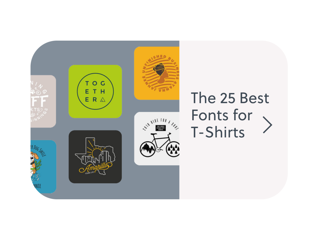 The best t-shirt fonts to use in your next design