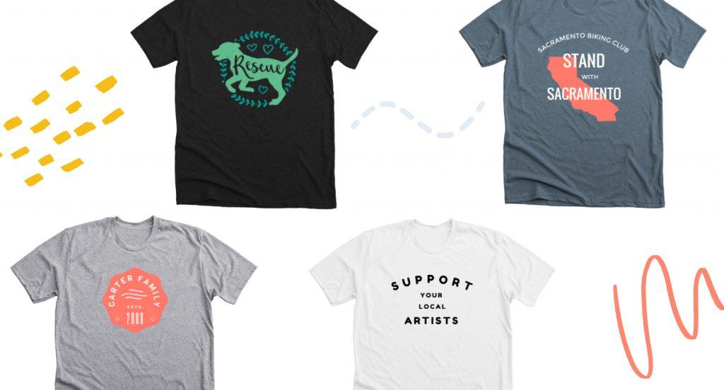 Use a customizable t-shirt template to design your shirt.
