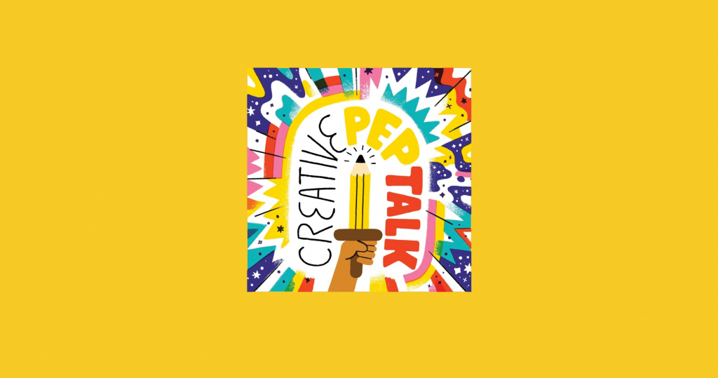 The Creative Pep Talk podcast artwork and logo
