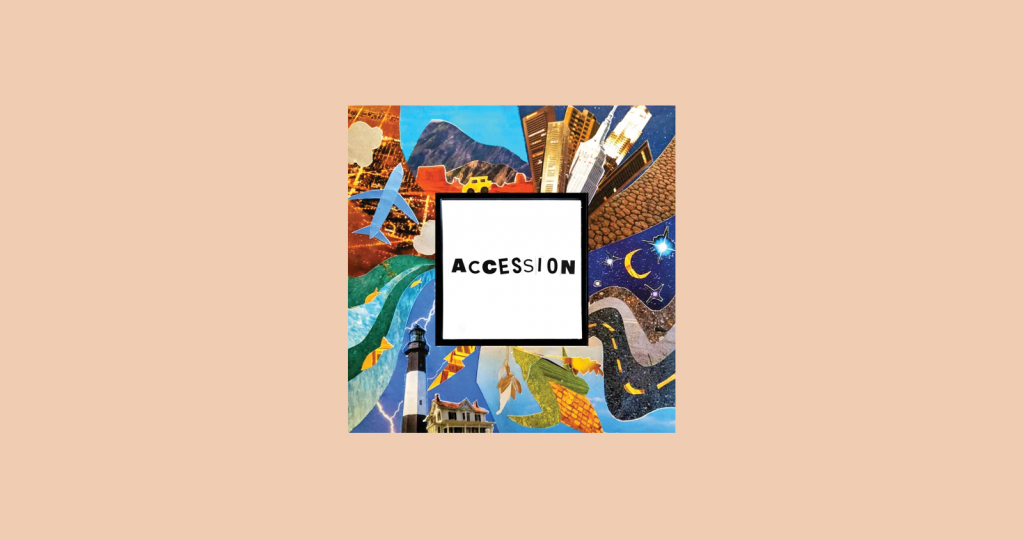 Accession podcast artwork and logo