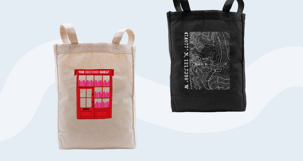 Adding custom designs to your tote bag.