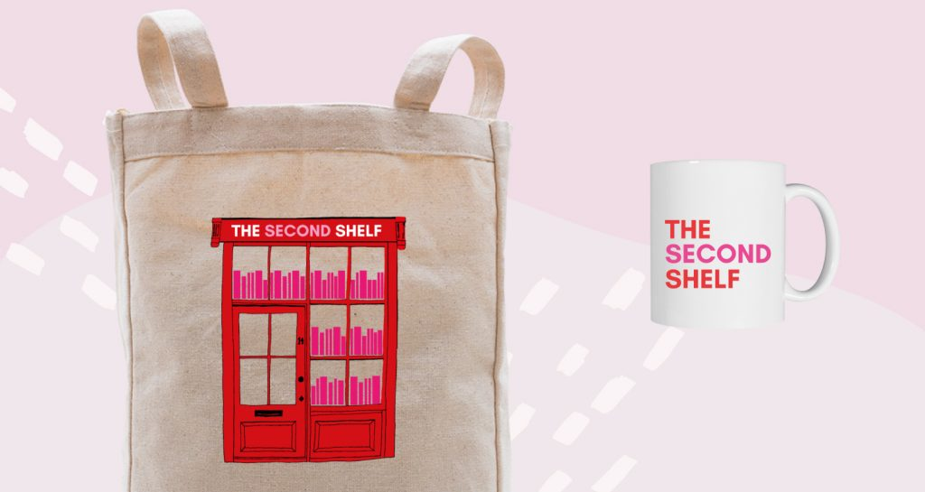 Custom mugs designed with complimentary set of merch.