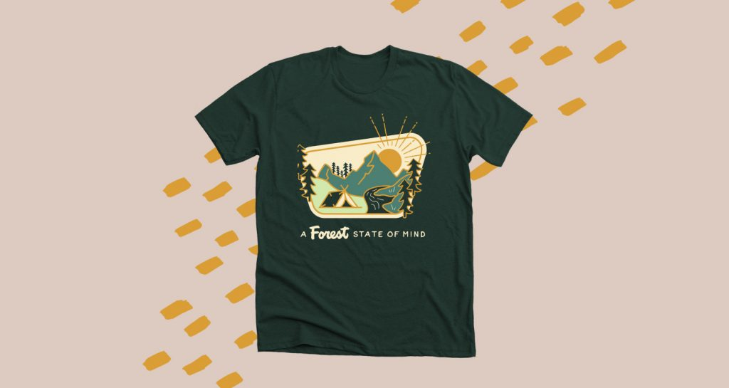A forest green t-shirt