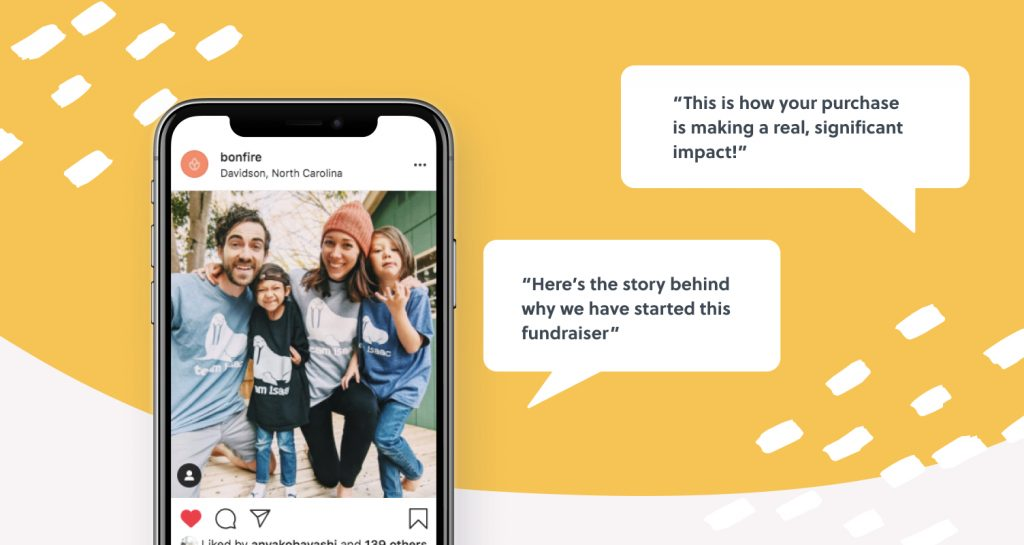 Announce the launch of your peer-to-peer fundraising campaign to friends and family on social media.