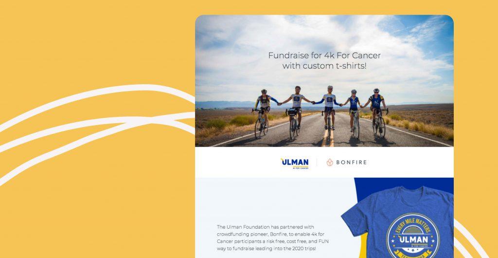 The Ulman Foundation's custom peer-to-peer landing page.