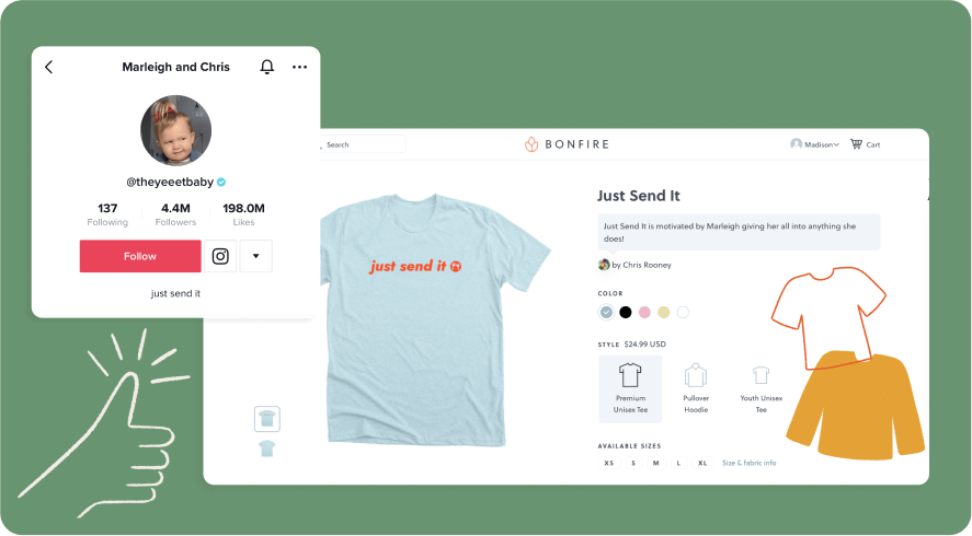 Add a catch phrase to your merch that your selling on YouTube