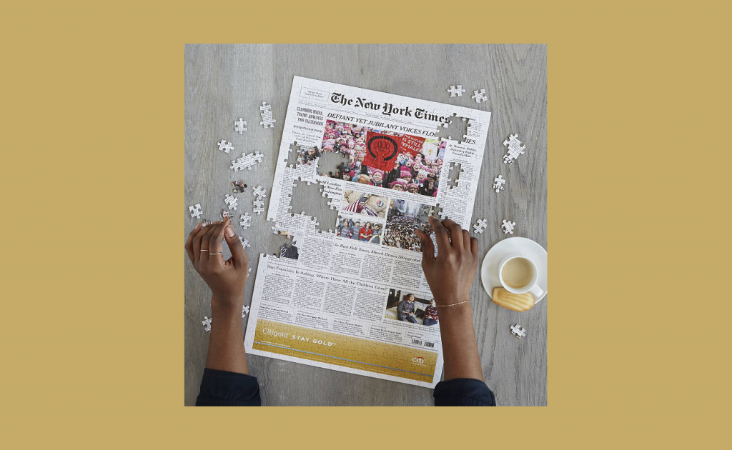 New York Times front page puzzle