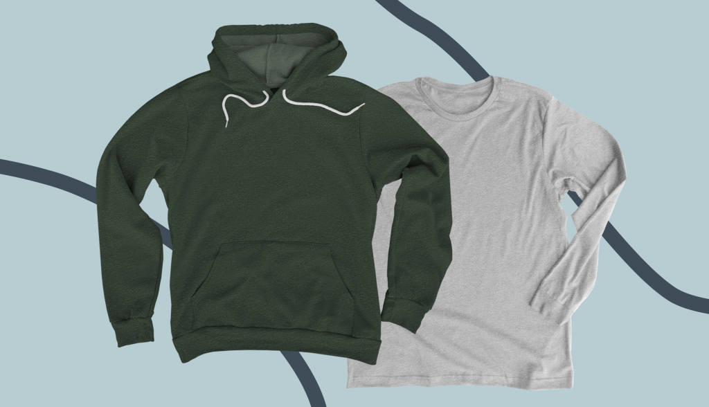 Premium hoodies and long sleeve shirts available on Bonfire.