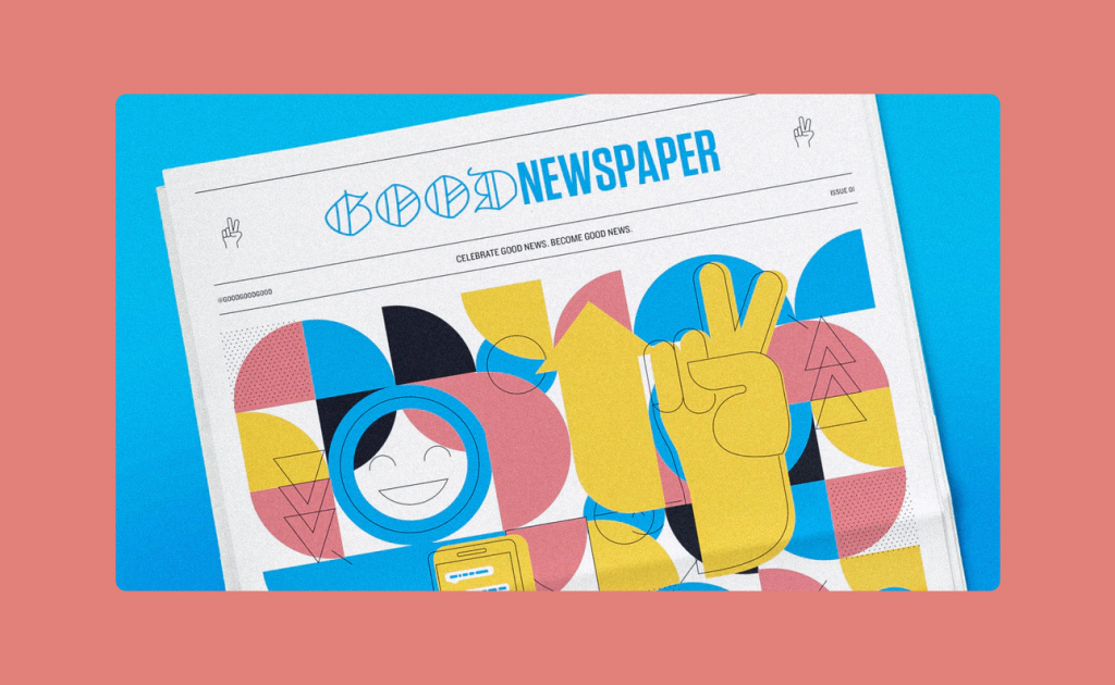The Goodnewspaper focuses on stories that are changing things for the better.