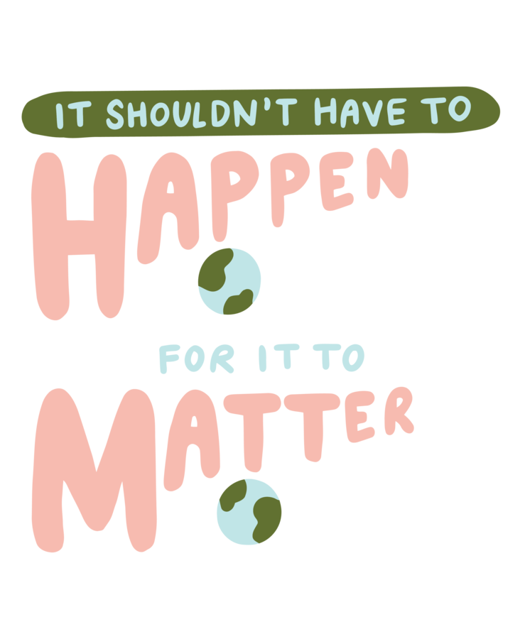 The It Should Matter t-shirt design created by Danielle Cook.