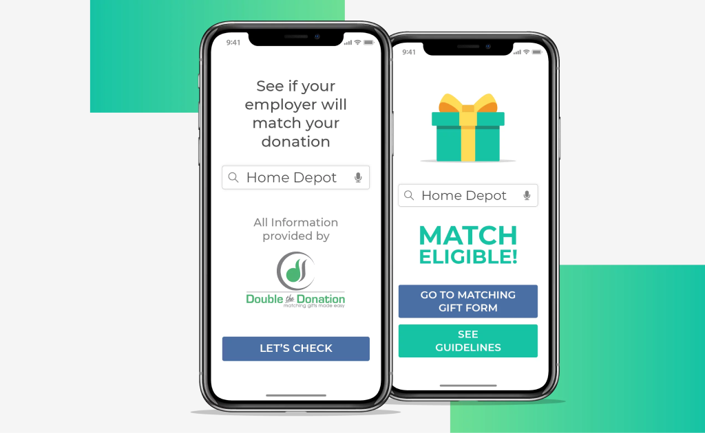 Double the Donation gift matching database.