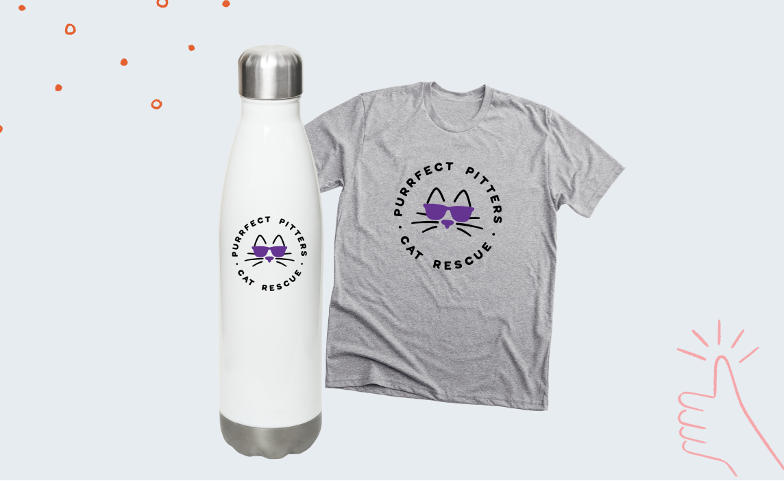 Match your water bottle design with your t-shirt design to make it set.